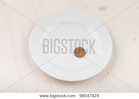 Coin On Plate