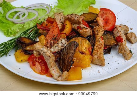 Roasted Pork With Vegetables
