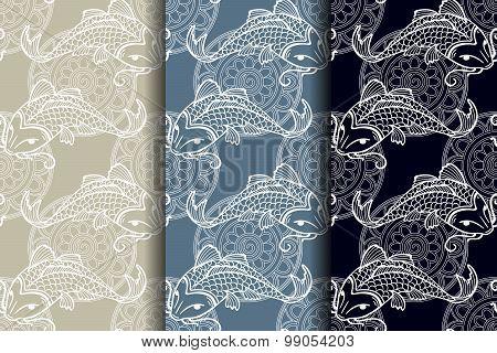 Koi Carps Seamless Texture