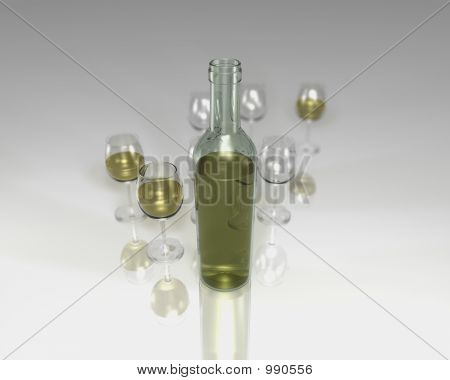 Wine Bottle With Depth