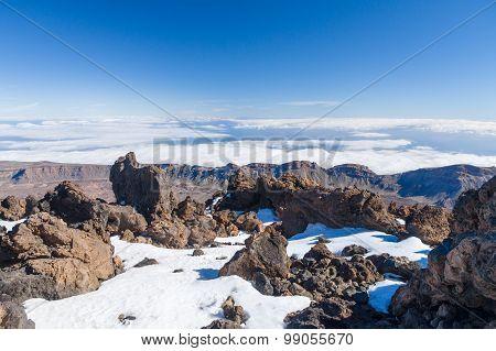 Aerial View From Peak Of Volcano Teide, Tenerife