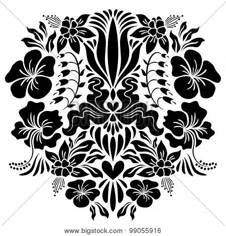 Abstract Illustration With Flowers