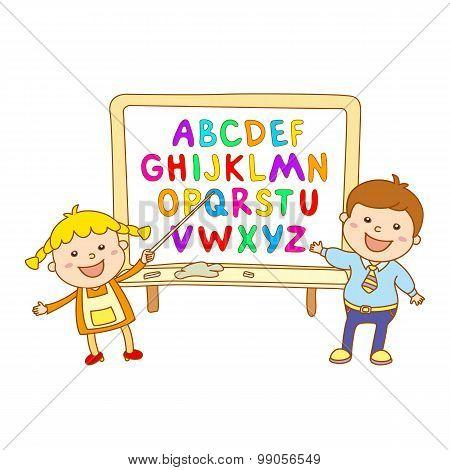Abc For Kids Alphabet, Illustration, Vector, Kids, Children, Fun,
