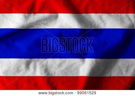 Waving Nation Flag Of Thailand