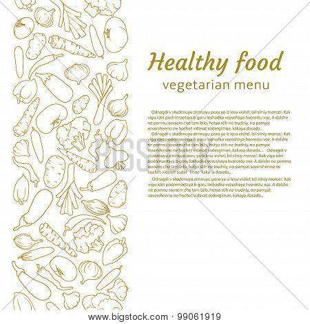 healthy food. vector illustration for vegetarian menu