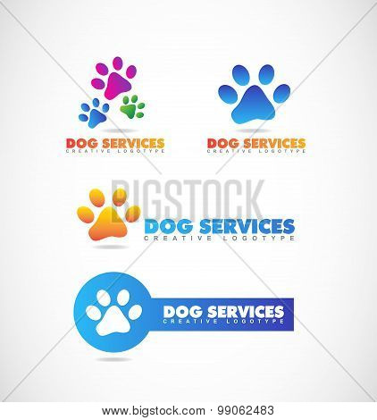Dog Paw Pet Shop Logo