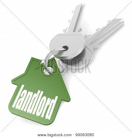 Keychain With Landlord Word