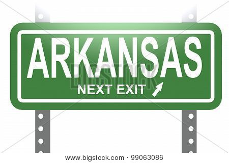 Arkansas Green Sign Board Isolated