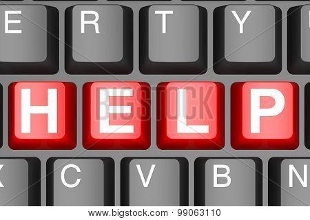 Help Button On Modern Computer Keyboard
