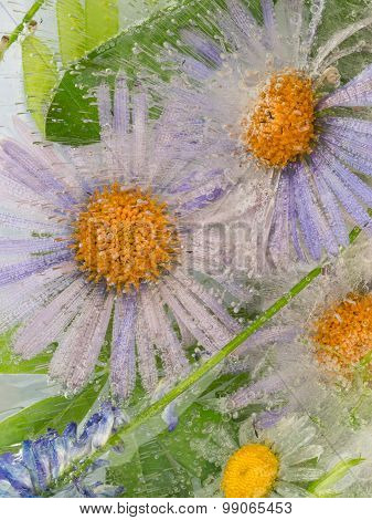 Abstraction With Lilac Flowers