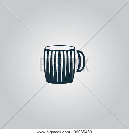 Vector illustration of empty beer mug.