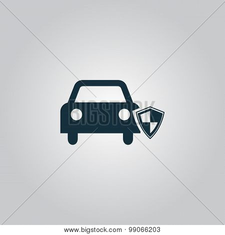 vehicle shield over gray background vector illustration