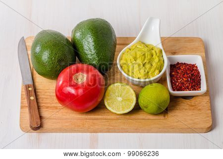 Ingredients For Guacamole And Guacamole Dip
