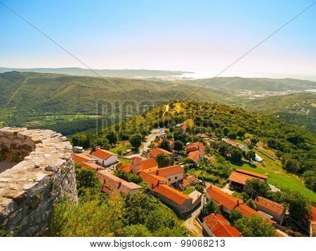 Beautiful mediterranean village in sunny day