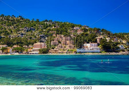 Houses On The Hill In Port De Soller