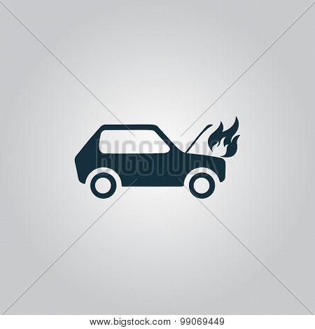 car fired