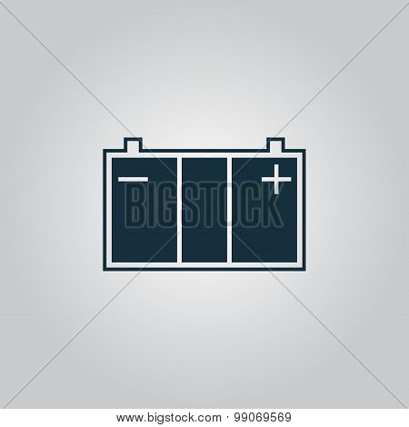 Car battery icon