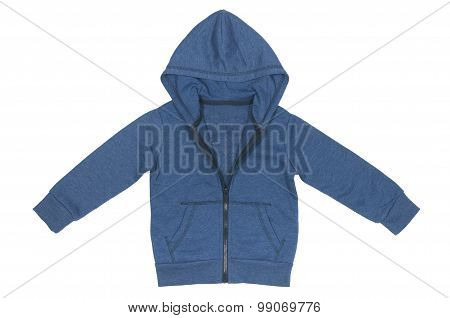 baby blue jacket with a hood