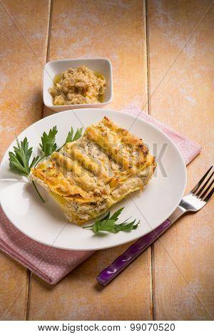 lasagne with artichoke sauce