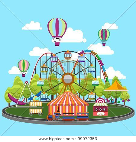 Carousel in flat design