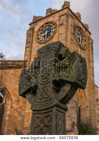 Celtic Cross in Campsie High Church