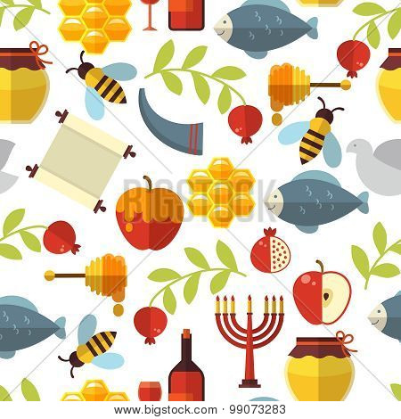 Jewish New Year Rosh Hashanah Pattern