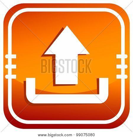 Upload Icon Orange