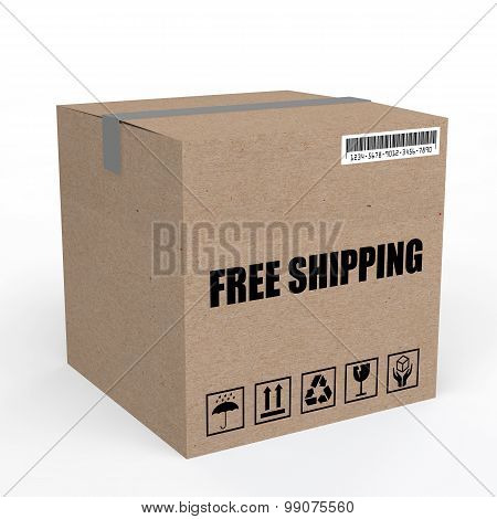 3d carton box with free shipping