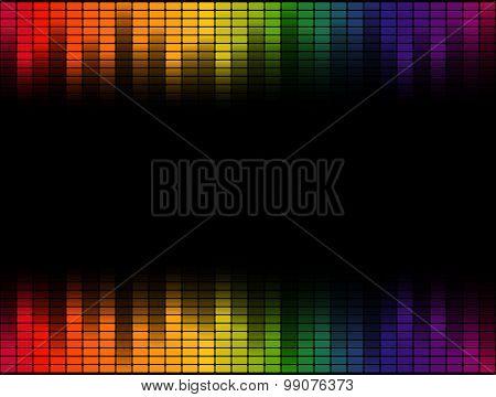 Digital Equalizer Background Colorful - Endlessly