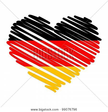 Line Drawing Heart - Germany