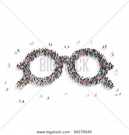 group  people  shape  glasses