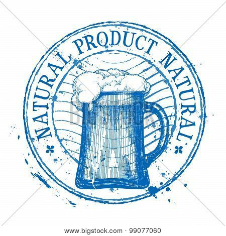 Beer. Shabby stamp