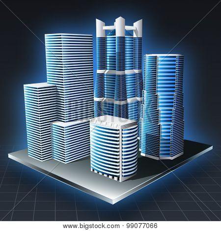 Cityscape Landscape. Vector Illustration