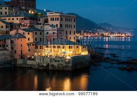 Boccadasse, District Of Genoa, During A Summer Evening