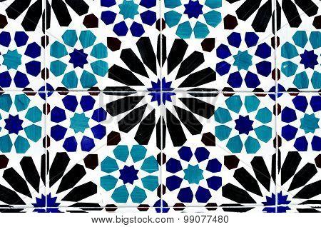 portuguese ceramic tiles background