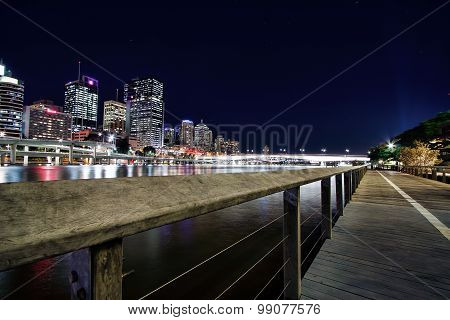 View of Brisbane City from Southbank, Brisbane