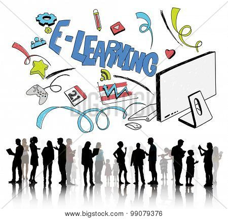 E-learning Education Global Communication Technology Concept