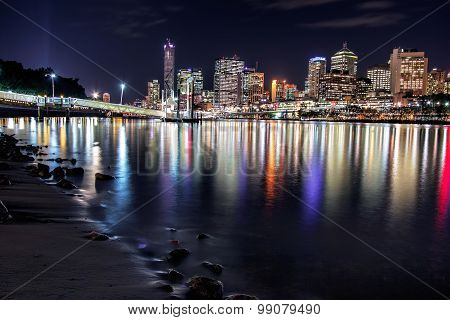 View of Brisbane City from Southbank Parklands, Brisbane
