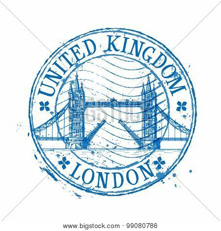 United Kingdom vector logo design template. stamp or England, London icon