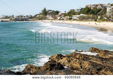 View of Currumbin Beach on the Gold Coast