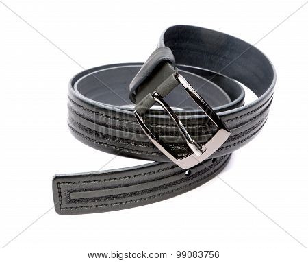 Man's Fashion Belt Isolated On A White Background