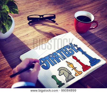 Strategy Planning Business Design Ideas Chess Competition Success Concept