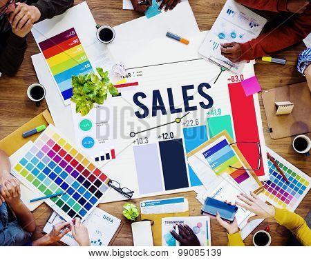 Sales Financial Money Revenue Profit Concept