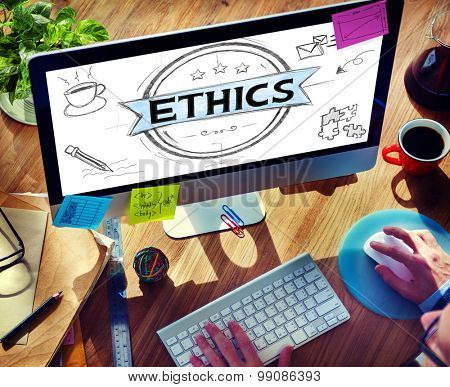 Ethics Integrity Fairness Ideals Behavior Values Concept