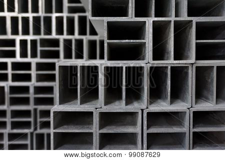 Abstract Metal Square Block