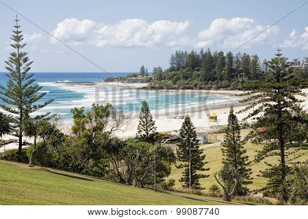 View of Coolangatta beach and Snapper Rocks from Kirra Point Lookout, Gold Coast