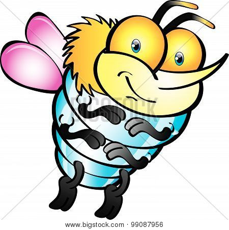 Fly Cartoon - Colourful Fly With Wings