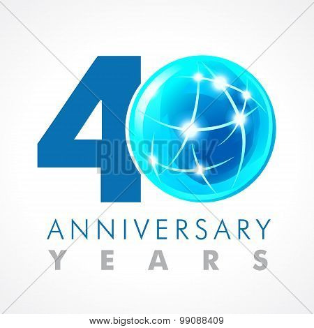 40 anniversary connecting logo