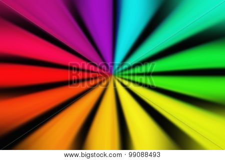 circle with rainbow colors on black background