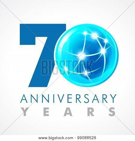 70 anniversary connecting logo